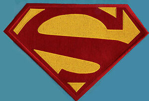 7-8-034-x-11-75-034-X-Large-Embroidered-Superman-New-52-Red-amp-Yellow-Chest-Logo-Patch
