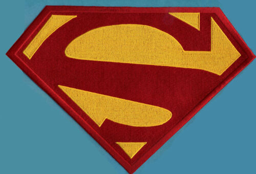 7.8 x 11.75 X-Large Embroidered Superman New 52 Red & Yellow Chest Logo Patch