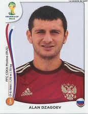N°617 ALAN DZAGOEV # RUSSIA STICKER PANINI WORLD CUP BRAZIL 2014
