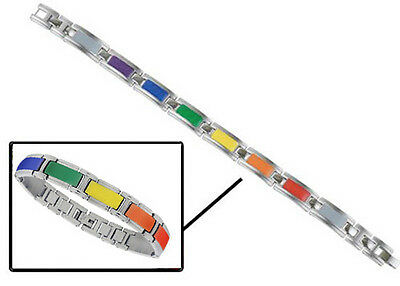 Pride Shack - Enamel Link Rainbow Bracelet - Gay and Lesbian LGBT Pride Wristlet