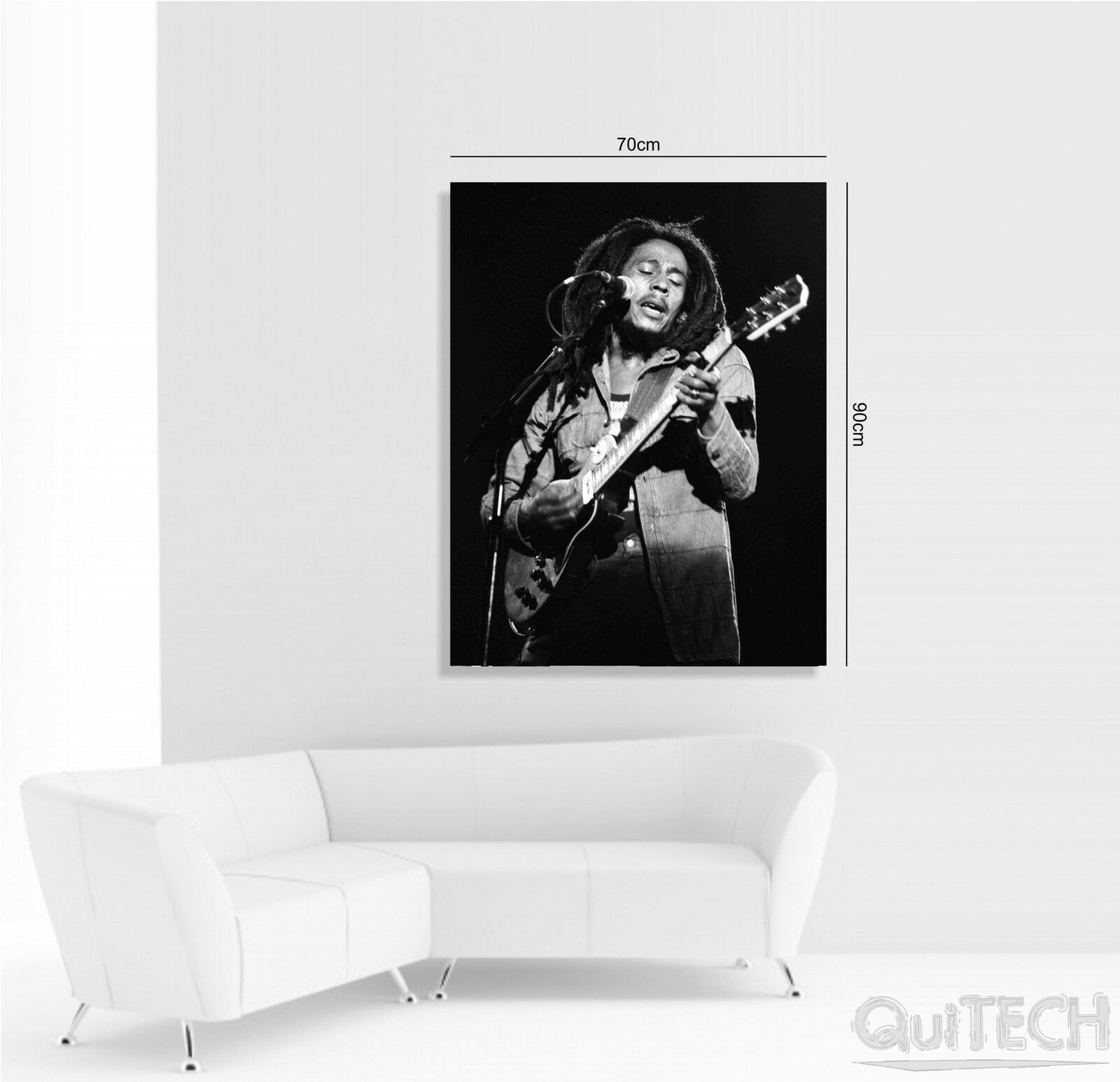 Bob stampa Marley - 7 - Quadro stampa Bob su Tela Pelle Canvas Dipinto Arte Moderna ce5527