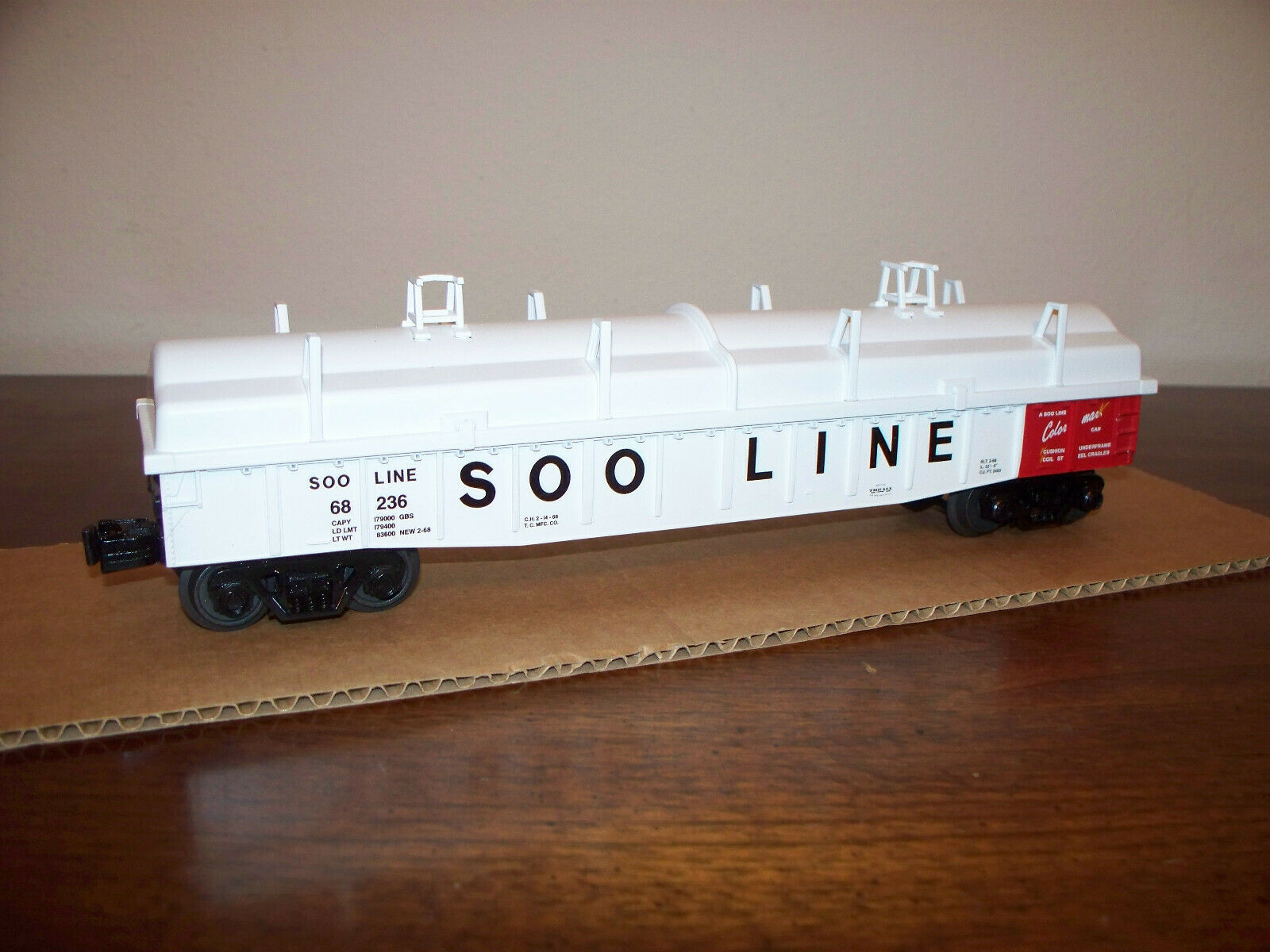 MTH TRAIN SOO LINE GONDOLA WITH COVER