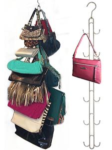 2-PK Hanging Purse Storage-Purse Stax™ Purse Organizer-Holds 50 lbs, 12 hooks