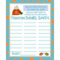 24 Baby Shower Baby Name Game Cards - Little Pumpkin