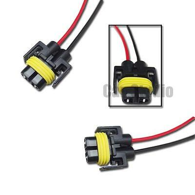 2pcs H11 H8 Female Adapter Wiring Harness Nylon Plug For Headlights Fog Light