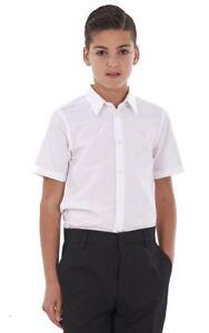BHS Boys 2 Pack Regular Fit Non Iron Short Sleeve School Shirt