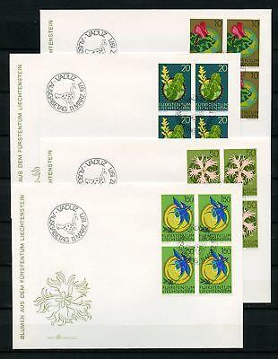 Liechtenstein Nr.539-542 Viererblock Schmuck-fdc Esst !!! Briefmarken 125745