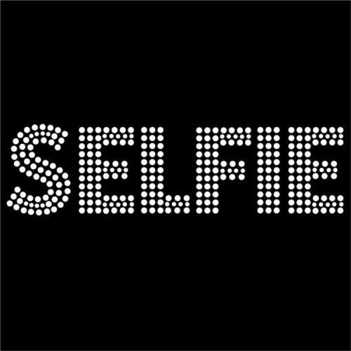 Hotfix diamante fashion youth selfie transfer iron on motif for t-shirt bag Sty5