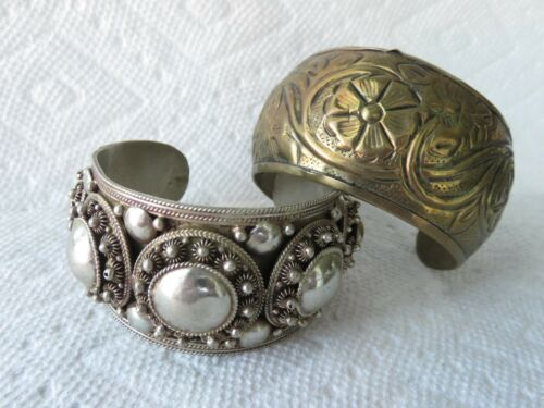 Vintage Silverplated Spanish Bird Wide Cuff Bracelet Adjustable Unisex Style