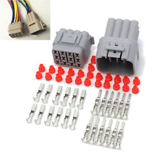Set of Car 12Pin Way Sealed Waterproof Electrical Wire Cable Auto Connector Plug