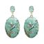 Nuevo Para Mujeres Retro Impresión De Resina Cristal Cristal Pendientes Joyería de gancho para la oreja