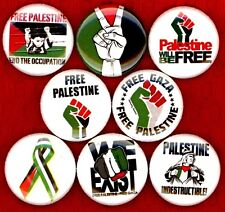 FREE PALESTINE 8 NEW buttons pins badges gaza