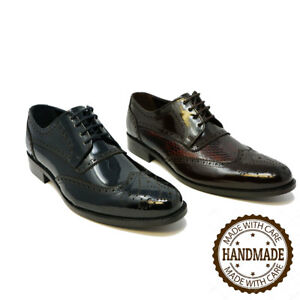 a2bcb82336ce4 Details about Futoli Mens Genuine Leather Oxford Wingtip Goodyear Welted  Shoes Handmade