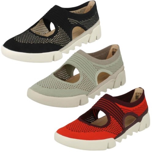 Ladies Clarks Tri Blossom Casual Textile Slip On Shoes D Fitting