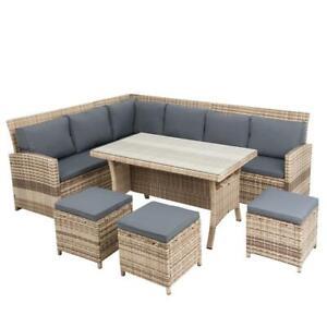 Rattan Sitzgruppe 20tlg Garten Lounge Möbel Gartenmöbel Set Sofa