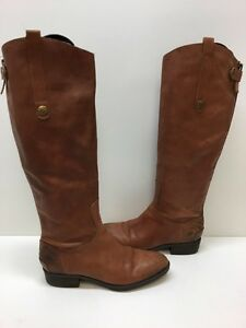 3151404910321 Sam Edelman Women s Penny Riding Boot Brown Leather Size 6 M