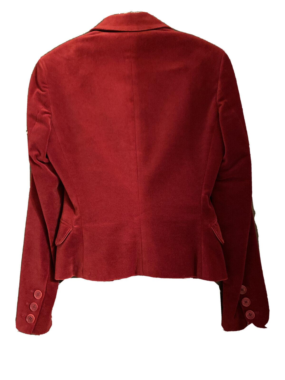 GF FERRE Vintage Red Velvet Velour Jacket Blazer … - image 4