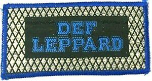 DEF-LEPPARD-Old-OG-Vtg-70-80-s-Glittered-Woven-Patch-Sew-On-Heavy-Metal-NWOBHM