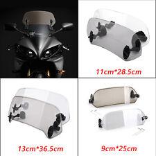 Motorcycle Windscreen Motorbike Wind Deflector Universal Motorcycle Windshield Windscreen 22-25mm Handlebar Mounting Smoky