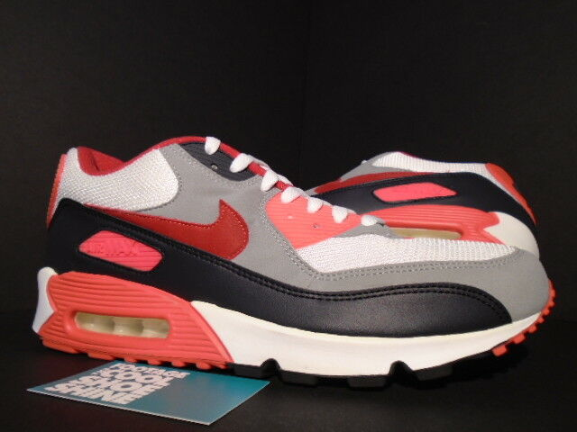 NIKE AIR MAX 90 EX ID CARSON PALMER BENGALS WHITE RED INFRARED 321763-161 10.5
