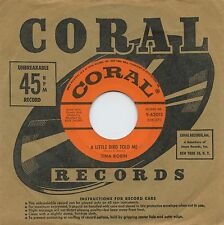 Rare Pop 45 - Tina Robin - A Little Bird Told Me - Coral Records # 62015 - M-