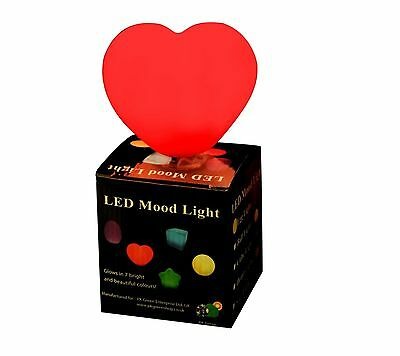 LED MOOD LIGHT COLOUR CHANGING HEART GIFT