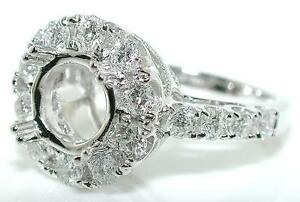 0-9-Ct-ROUND-HALO-DIAMOND-Mounting-RING-Setting-14K-White-Gold