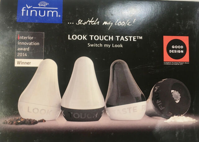 finum Look Touch Taste Spice Grinder Clear//Black NEW IN BOX
