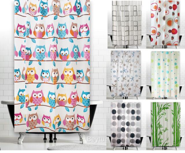 "New Modern Waterproof PEVA Bathroom Shower Curtains 180 x 180 cm (71"" x 71"")"