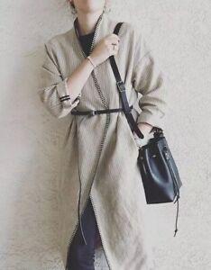 zu Sommermantel natur gestreift Zara M Details Leinenmantel 100Leinen Woman Mantel dtrQsh