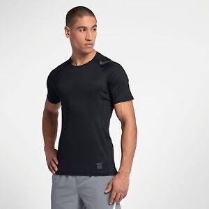 500a307a0 Nike Pro HyperCool Training Tee New Black Grey Men Sportswear 887109 ...