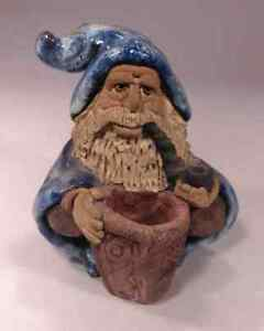 Details about Beautiful Ceramic Wizard and 5 Magical Crystal Stones -  Quartz Crystal Ball