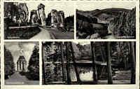 Teutoburger Wald Region Detmold ~1940 Hermannsdenkmal Donoperteich Externsteine