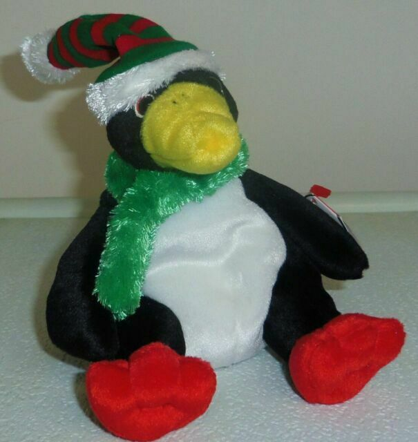 MWMT 6 Inch Ty Beanie Baby ~ TOBOGGAN the Penguin