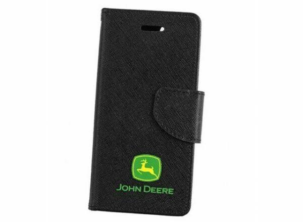 Genuine John Deere iPhone 7 Rubber Black Flip Phone Cover Case Wallet