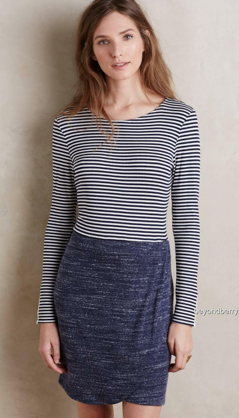 NEW Anthropologie Mixed Stripe Dress by Dolan Left Coast  Größe L & XL