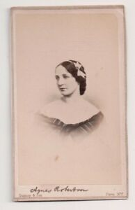 Vintage-CDV-Agnes-Robertson-Victorian-Actress-Gurney-amp-Sons-Photo