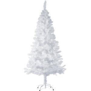 k nstlicher weihnachtsbaum tannenbaum kunst tanne baum christbaum 180 cm wei ebay. Black Bedroom Furniture Sets. Home Design Ideas