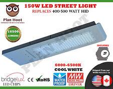 150 Watt LED Street Light Road Outdoor Floodlight Pole ShoeBox Garden Industrial