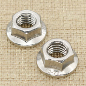 1 Pair Stainless Steel Bike Track Wheel Nuts Hexagon Design Cycling Parts M10