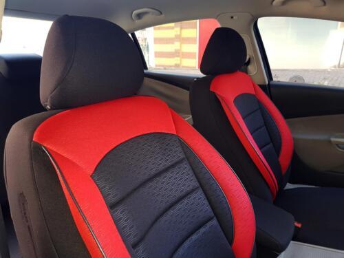 Sitzbezüge Autositzbezüge für Nissan Micra IV schwarz-rot NO2562392 Set
