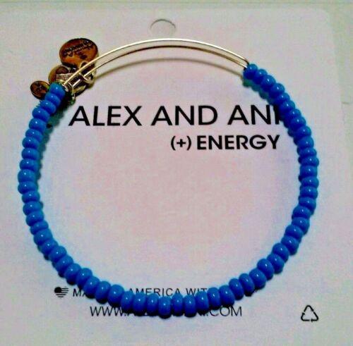 Alex and Ani Blue Sky Sea Bead  Russian Silver Color Expandable Bracelet ❤️