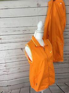 Nike-2-Piece-Women-s-Orange-Athletic-Vest-and-Capri-Pants-Size-M-L