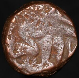 97xh (1563-1571) | Sultans Of Gujarat Muzaffar III 1½ Falus | Copper | KM Coins