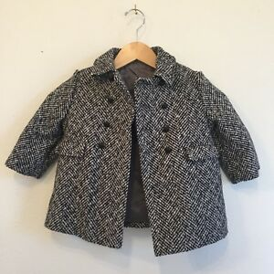 Outerwear Dedicated Toddler Vintage Union Made Houndstooth Wool Peacoat Double Breast F.w Fischer