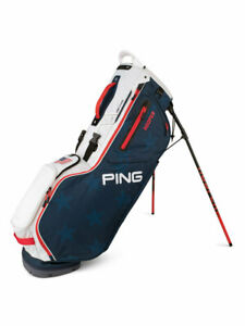Ping Hoofer Golf Stand Bag - Navy/White/Red | GolfBox