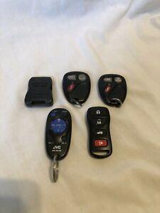 Lot of 5 OEM Used Key Fobs Keyless Remote Keys GM JVC Pursuit