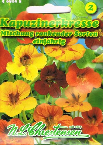 568098 Kapuzinerkresse Läusefangpflanze Mischung rankend Saatgut Samen