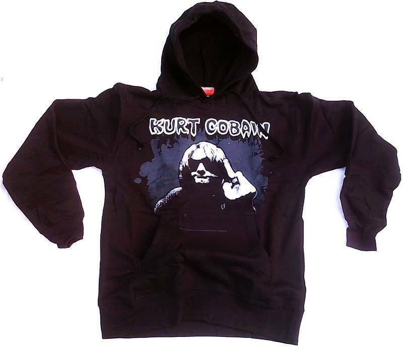 BRAVADO Official KURT COBAIN 1967-1994 Bird Kaputzen Pulli Sweat Shirt HOODIE S