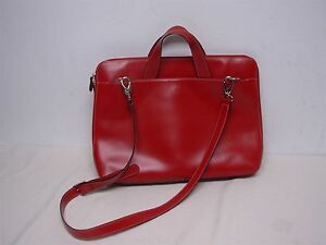 Image Is Loading Lodis Audrey Brera Red Leather Briefcase Computer Compartment